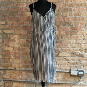 Evereve Allison Joy Striped Wrap Sundress …